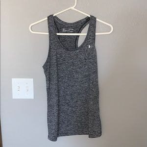 Under armor black & gray workout tank top, size XS